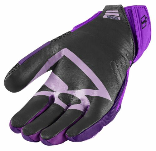 ICON OVERLORD 2 WOMENS MESH GLOVES IN PURPLE SIZE XS M L XL S
