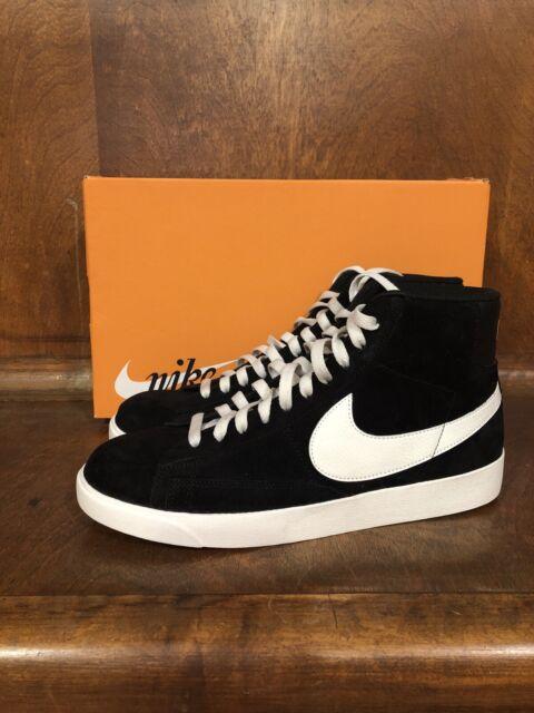Todo el mundo terrorismo Distinción  Size 9.5 - Nike Blazer Mid Vintage Suede Black for sale online | eBay