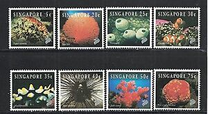 Singapore-674-81-1994-Marine-Life-Set-Mint-NH