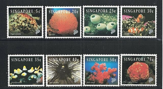 Singapore 674-81 - 1994 Marine Life Set - Mint/NH