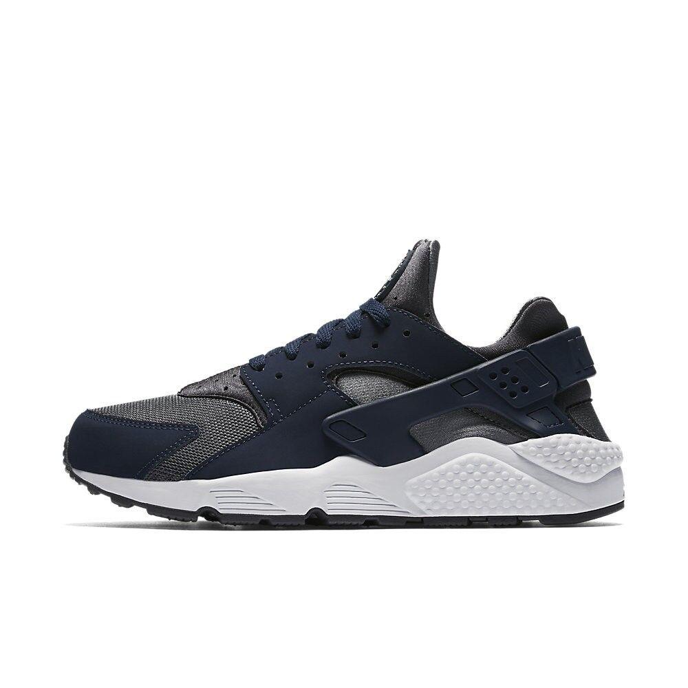 Nike Air Huarache Run Dark Grey Metallic Silver Midnight Navy Blue 318429 038