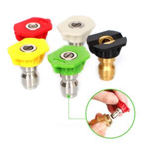Quick-Connector-Car-Washing-Nozzles-5pcs-1-set-1-4-Metal-Jet-Lance-Nozzles