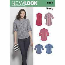 NEW LOOK Sewing Pattern Miss Womens Plus Shirts Blouses ~ 6394  Sz 8-18