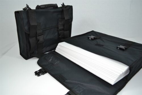 A0 Mapac Designer Maxi Black Portfolio Display Case Waterproof Fabric Storage