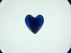 Royal-Blue-silver-foil-glass-heart-beads-20mm-X-5