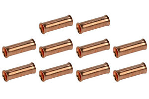2 AWG TEMCo Butt Splice Connector Bare Copper Uninsulated Gauge. 10 Pack
