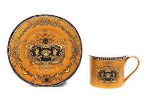 12-Piece-Euro-Porcelain-Medusa-Fine-Bone-China-Tea-Cup-Coffee-Set-White-Gold