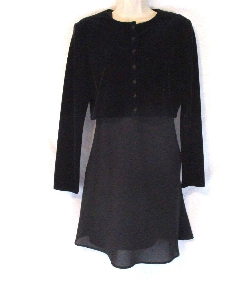 Laundry Shelli Segal damen Cocktail Dress Jacket Set schwarz PS Sleeveless CB69F