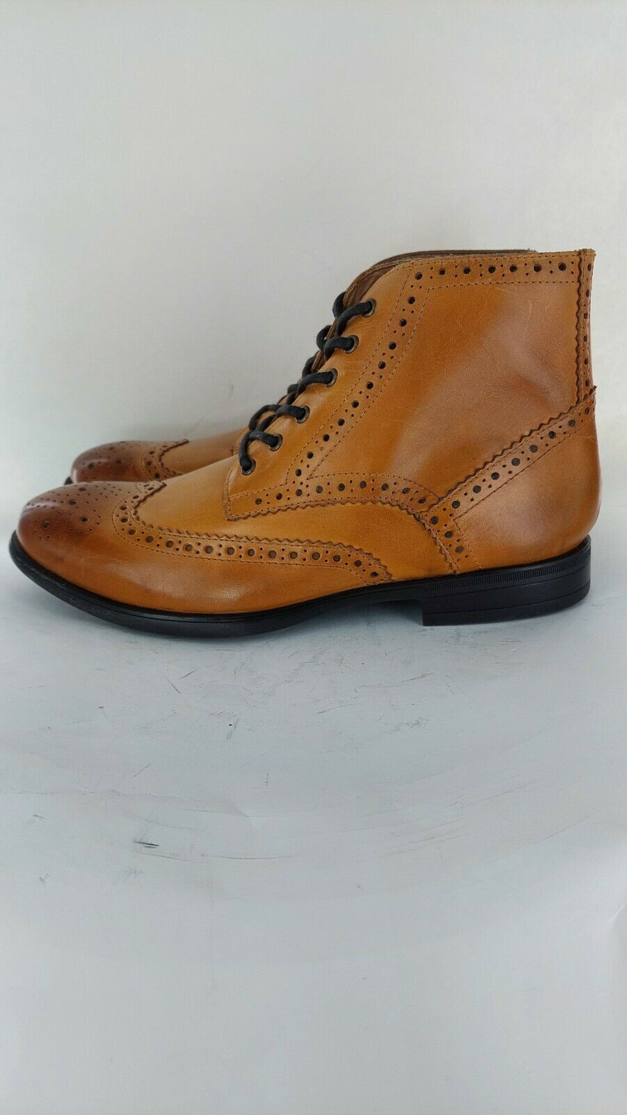 Mister Carlo LEONARDO Mens Zip Up Smart Brogue Ankle Boots UK Size 9#833