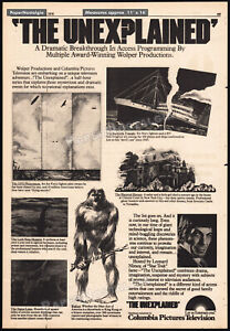 THE-UNEXPLAINED-Orig-1976-Trade-AD-poster-LEONARD-NIMOY-Bigfoot-Loch-Ness