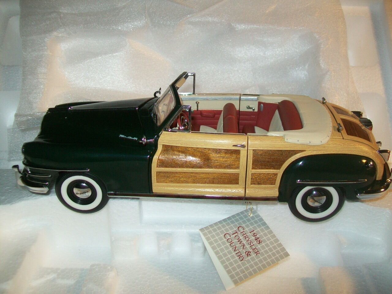 hermoso 1948 Chrysler Town and and and Country-Franklin Mint-Nuevo Caja  contador genuino