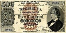 PHOTO MAGNET USA Reproduction 1880 Silver Certificate Five Hundred Dollars