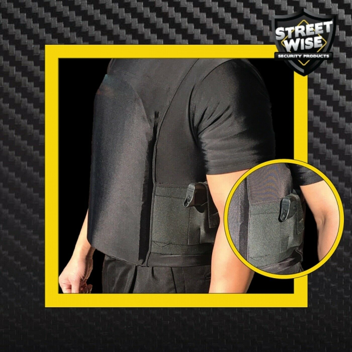 Streetwise Police-Security Safe-T-Shirt - Ballistic Plate Carrier With Holster