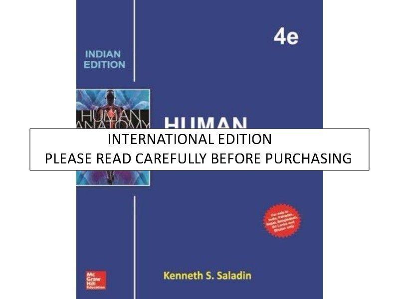 Human Anatomy by Kenneth S. Saladin (2013, Hardcover) | eBay