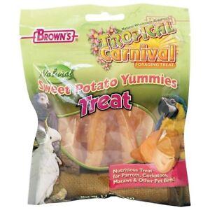 Agressif Brown's Sweet Potato Yummies-parrot Treats - 3.5 Oz (environ 99.22 G)-afficher Le Titre D'origine DéLicieux Dans Le GoûT