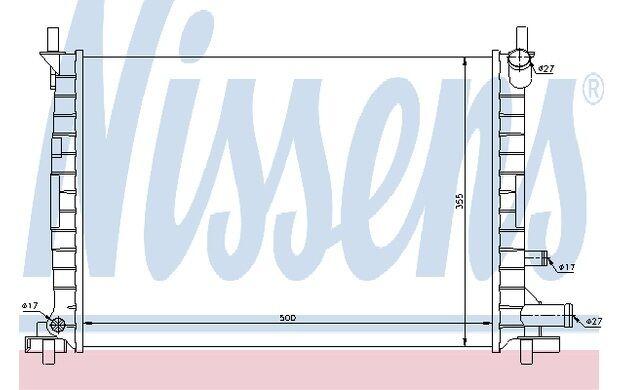 NISSENS Radiador, refrigeración del motor FORD FIESTA COURIER MAZDA 121 62086