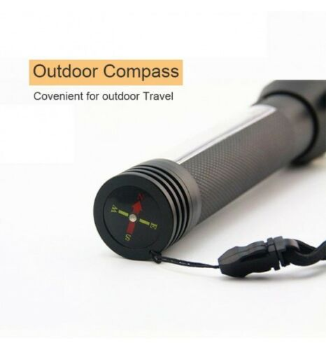 10 in 1 Multifunction Solar Powered LED Flashlight Emergency Torch Camping USA