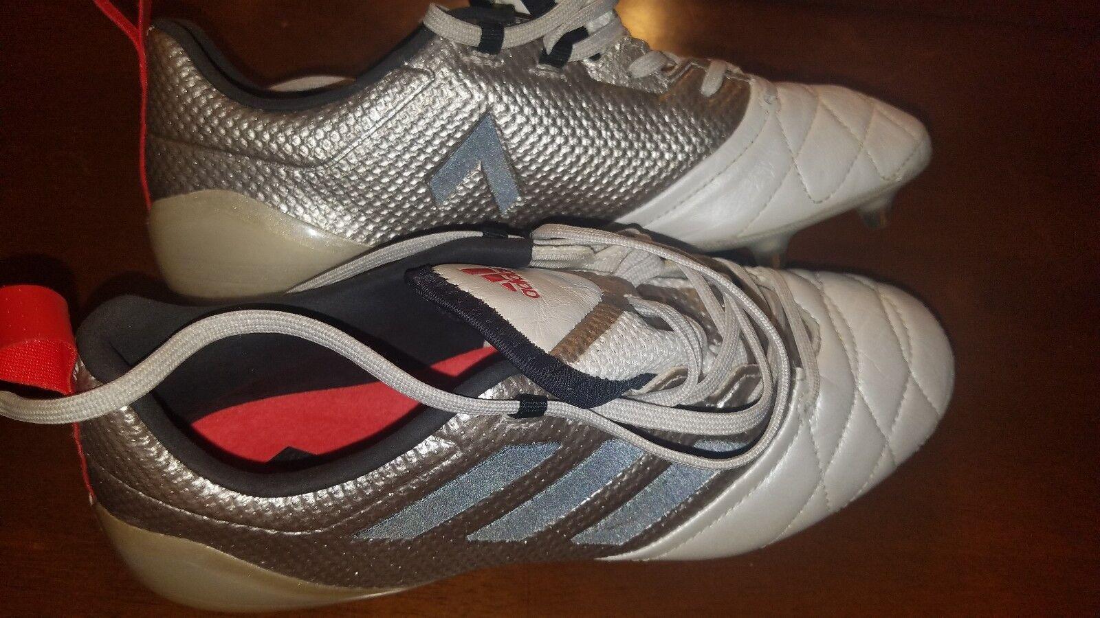 Nuevas Adidas Mujer Ace 17.1 Fg Pro Botines De Fútbol platino metálico negro