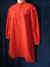 60's 70s Vintage Miss Margot Red Western Spy Girl Mod Trench Tent Shirt Dress 12