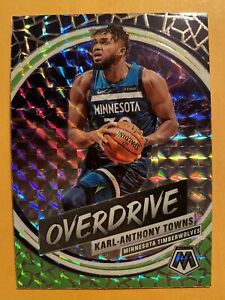 2019-20-Panini-Mosaic-Karl-Anthony-Towns-Overdrive-Silver-Wave-Prizms-SSP-6