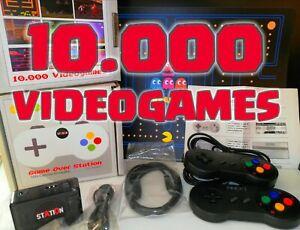 RETRO-GAMES-Arcade-Mame-Playstation-Nintendo-10-000-Videogames