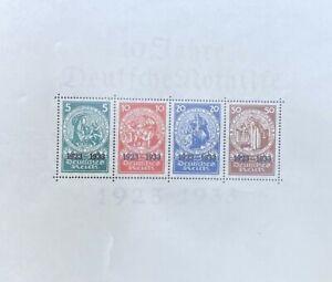 RARE-GERMAN-STAMPS-1933-Complete-Sheet-Block-10-Jahre-Deutsche-Nothilfe-MNH