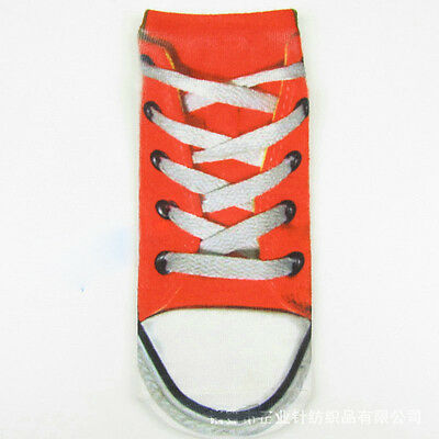 1 Pair Casual Women Fashion Low Cut Ankle Socks Cotton 3D Printed Fashion B4