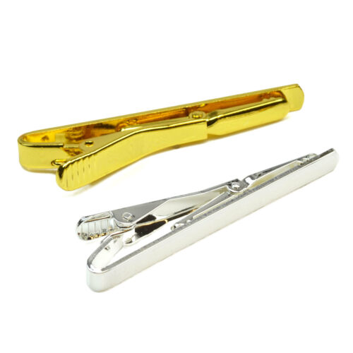 Silver//Gold Plated TIE CLIP Pins Clasps DIY Blanks Bars Fathers Craft Findings