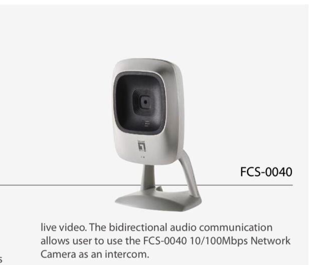 LEVELONE 1.3 MegaPixel Network Camera  FCS-0040 NIB Level one intercom Security