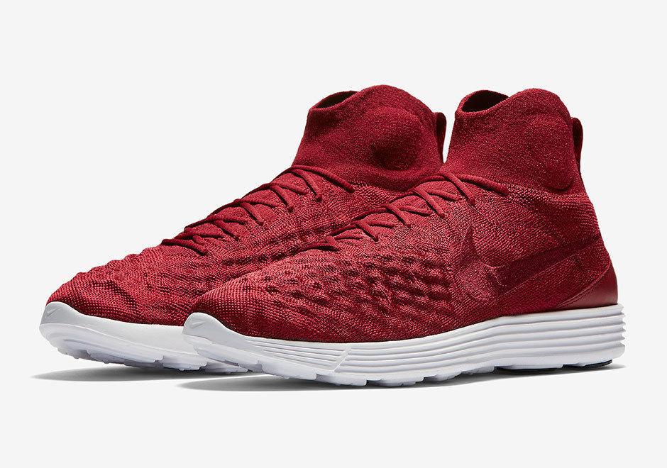 Nike lunar magista ii fk flyknit uomini (10) rosso - bianco - nero 852614-600