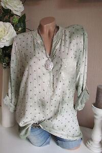 Camisa-Pescador-tunica-camisa-blusa-Extra-Grande-ESTRELLAS-STARS-Verde-Batik