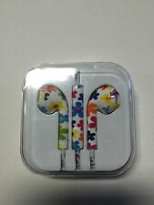 Multi Color Flower Design 3.5mm Universal Volume Control Earphone with mic
