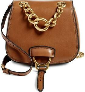 b8d4a636b187 MIU MIU AW16 CURRENT Brandy DAHLIA Tan Brown Leather Shoulder Saddle ...