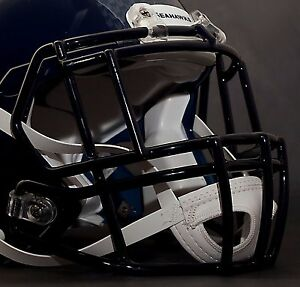 NAVY BLUE *CUSTOM* SEATTLE SEAHAWKS Riddell SPEED Football Helmet Facemask
