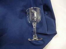 Set of 6 Wine Glasses WHEAT by Sasaki Crystal Multi-sided Stem Excellent! 109252
