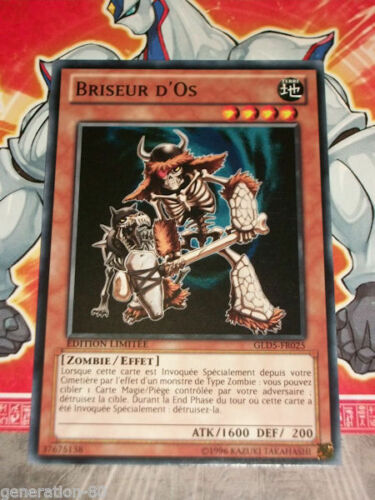 Carte YU GI OH BRISEUR D/'OS GLD5-FR025 x 3