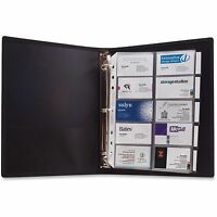 Anglers 3-ring Business Card Binder 100 Card Cap 8-1/2x11 Black 303 on sale