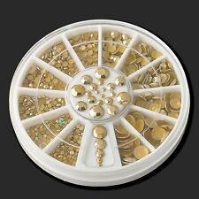 5 Sizes DIY Gold Rhinestone Nail Art Decoration 3d Acrylic Manicure Glitter Hot