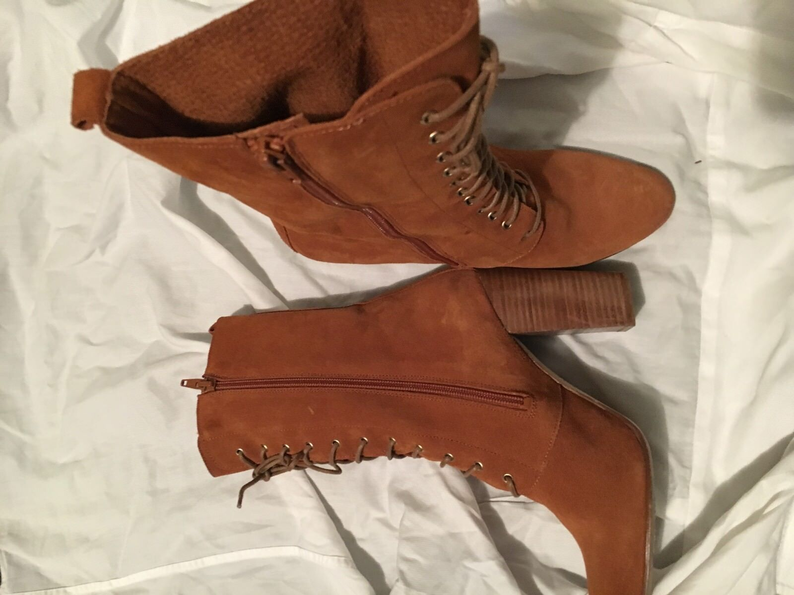 SIXTYSEVEN CARAMEL Swede LACE UP STYLISH Boot WOMEN Größe 40 STYLISH UP caed15