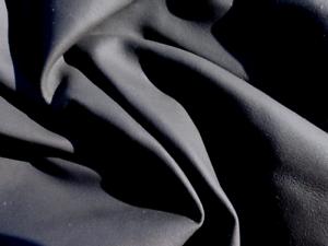 Lambskin sheepskin leather hide skin  Ultra Thin Dark Steel Blue Grey glove soft