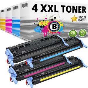 4x TONER für HP Color LaserJet1600 2600N 2605 DN DTN CM 1015 MFP 1017 124A SET