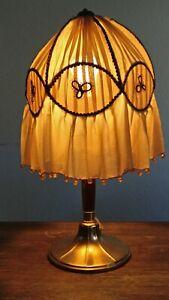 Lampe-Art-deco-Art-nouveau-WMF-jugendstil-abat-jour-soie-perle-poincon-ancien