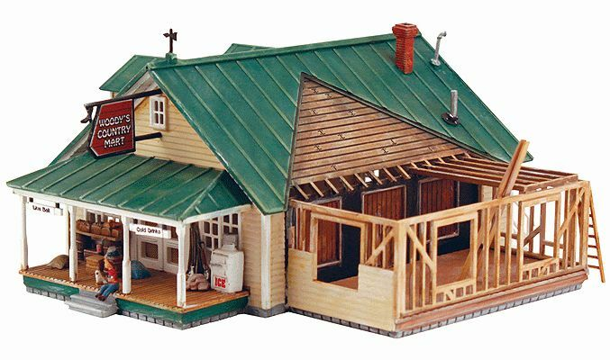 DPM Woody's Country Mart   - Kit  HO Scale, MIB