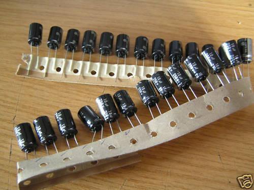 Condensador electrolítico ECA2EHG100B p Panasonic 250 V 10uF 105/'C 10 piezas OL0023
