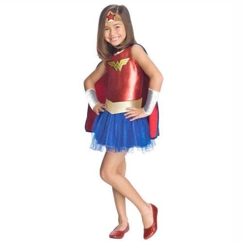 Wonder Woman Child Costume Superhero Fancy Dress Halloween Justice League Outfit