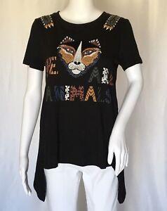 Desigual-donna-in-stile-T-Shirt-Multi-Color-Taglia-M-Corto-Lungo-digner
