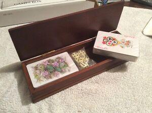 Scatola Giochi in legno con 2 Mazzi di Carte & Dadi-READER 'S DIGEST