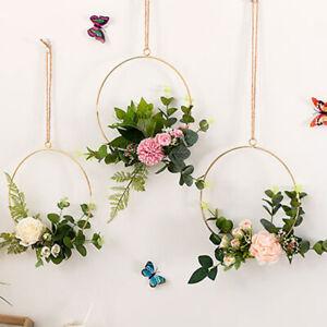 3Pc-Wedding-Floral-Hoops-Gold-Metal-Wreath-Birthday-Party-flower-Decoration-Hoop