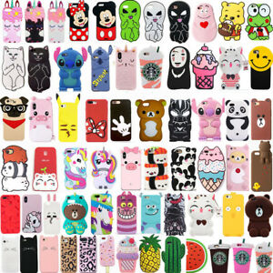 New-Hot-3D-Cute-Cartoon-Soft-Silicone-Phone-Case-Cover-For-iPhone-iPod-Touch-5-6