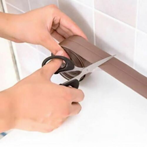 1 Pc Kitchen Ceramic Waterproof Anti-moisture PVC Sticker Bathroom Wall Corner L